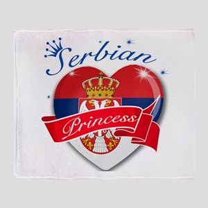 Serbian Princess Throw Blanket